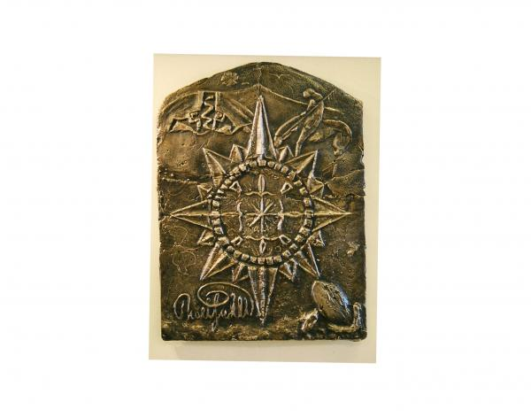 West Meets Southwest Compass Rose Relief  - West Meets Southwest Compass Rose Fine Art Print