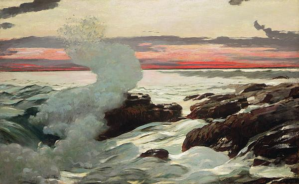 West Point Prouts Neck Print by Winslow Homer