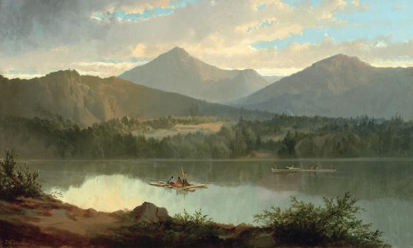 Western Landscape Print by John Mix Stanley
