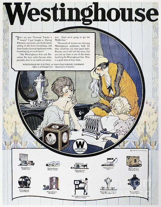 Westinghouse Ad, 1924 Print by Granger