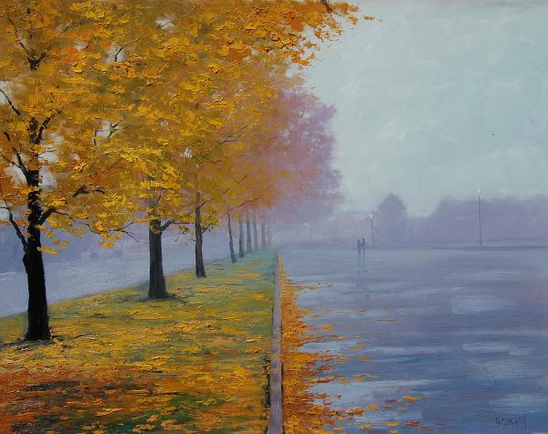 Wet Autumn Day Print by Graham Gercken