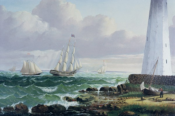 Whalers Coming Home Print by American School
