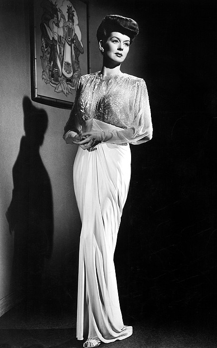 What A Woman, Rosalind Russell Wearing Print by Everett