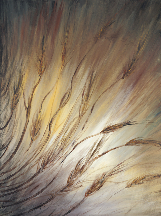 Wheat In The Wind Print by Nadine Rippelmeyer