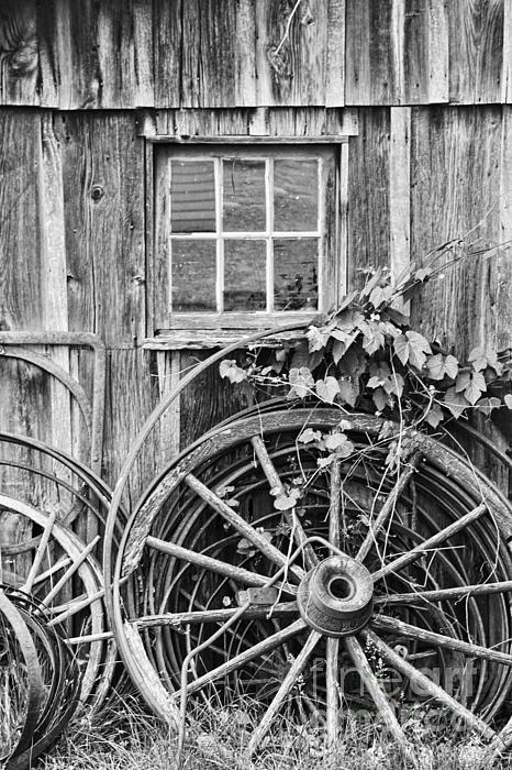 Wheels Wheels And More Wheels Print by Crystal Nederman