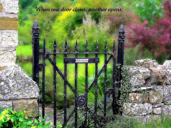 When One Door Closes Print by Jen White