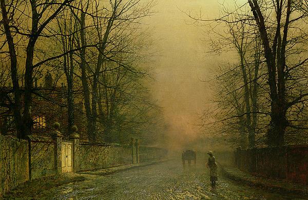 Where The Pale Moonbeams Linger Print by John Atkinson Grimshaw