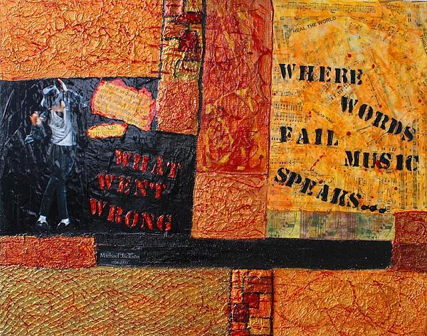 Where Words Fail Music Speaks Print by Victoria  Johns