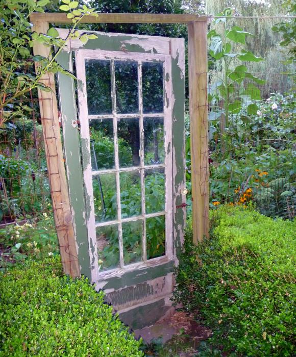 Whimsical Rustic Garden Door Photograph  - Whimsical Rustic Garden Door Fine Art Print