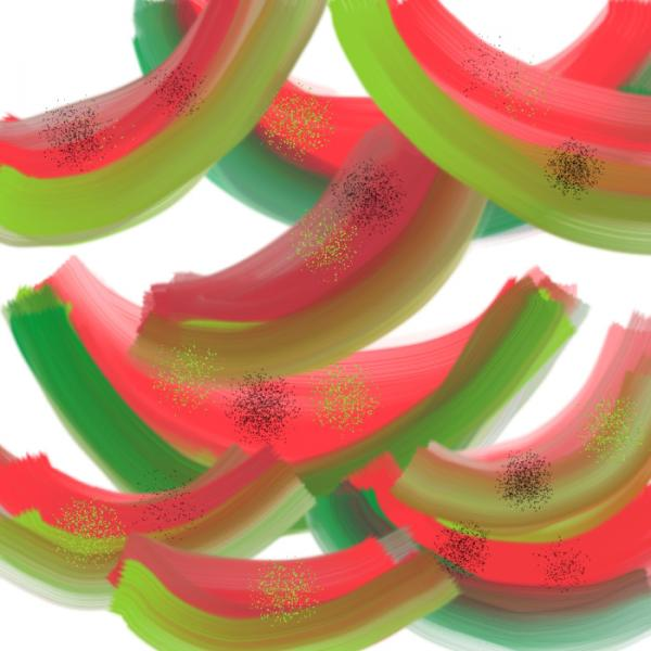 Whimsical Watermelon Digital Art  - Whimsical Watermelon Fine Art Print