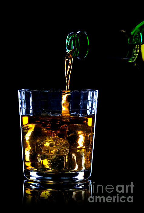 Whiskey Being Poured Print by Richard Thomas