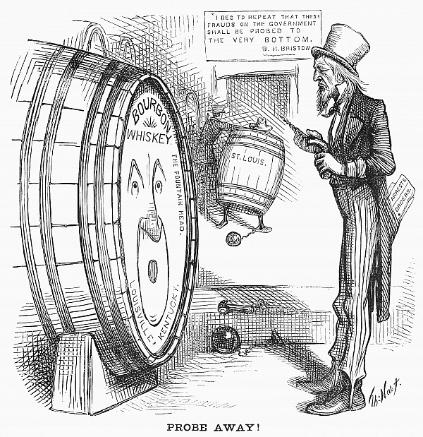 Whiskey Ring Cartoon, 1876 Print by Granger