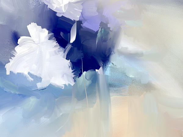 Davina Nicholas - White And Blue Flowers
