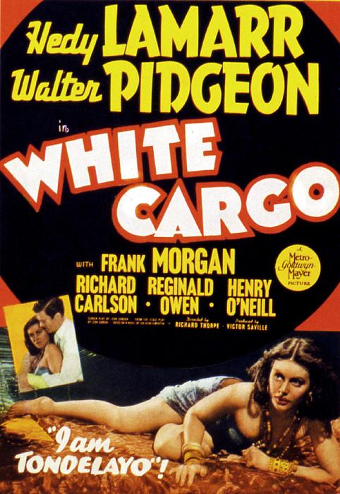 White Cargo, Hedy Lamarr, Richard Print by Everett