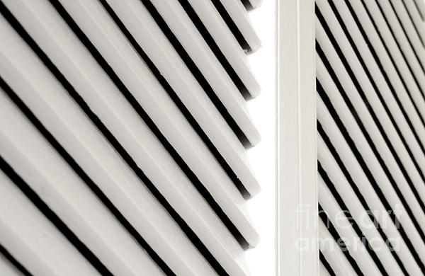 White Closet Door Detail Print by Blink Images
