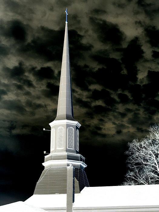 White Cross Dark Skies Print by Joshua House