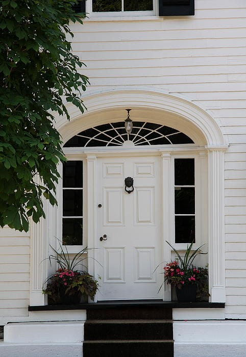 White Entrance Door Print by Christiane Schulze Art And Photography