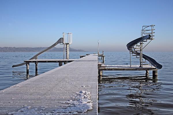 White Frost Slide Print by Ralf Kaiser