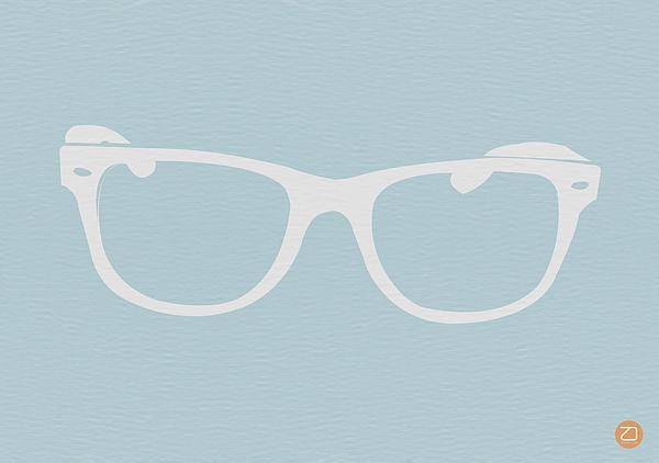 White Glasses Print by Naxart Studio