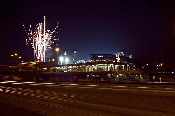 White Sox Homer Fireworks Print by Sven Brogren