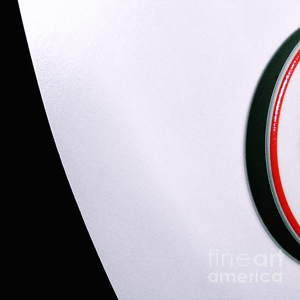 White Table With Saucer And Red Line Square By Silvia Ganora