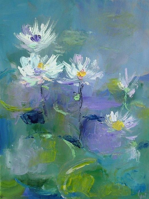 Demeter Gui - White water-lilies