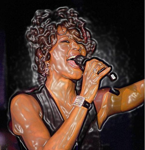 Whitney Houston Song Bird No. 1 Print by De Beall