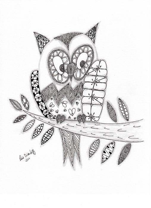 Who Says The Owl Print by Paula Dickerhoff