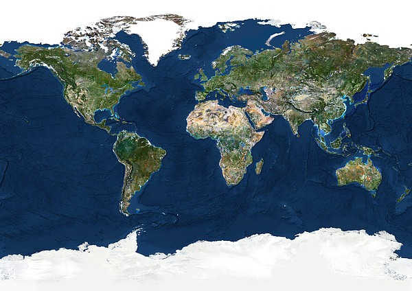Whole Earth, Satellite Image Print by Planetobserver