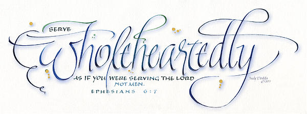 Wholeheartedly Print by Judy Dodds