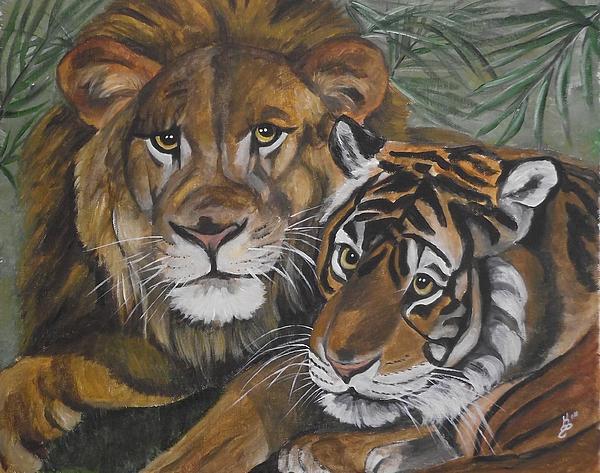 Wild Friends Print by Kim Selig