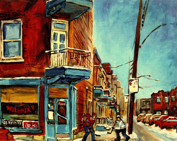 Wilensky's Corner Fairmount And Clark Print by Carole Spandau