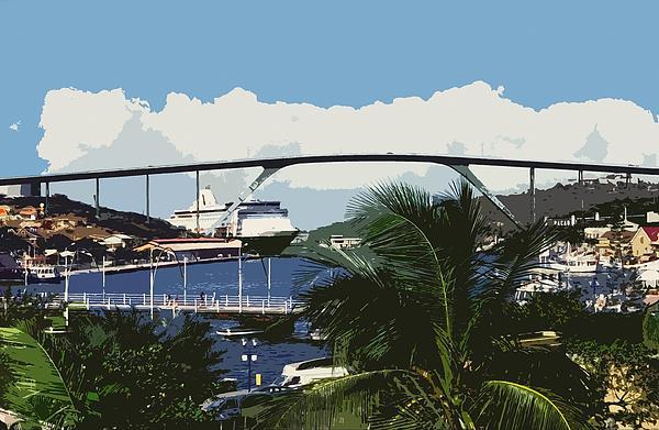 Willemstad - Curacao Print by Juergen Weiss