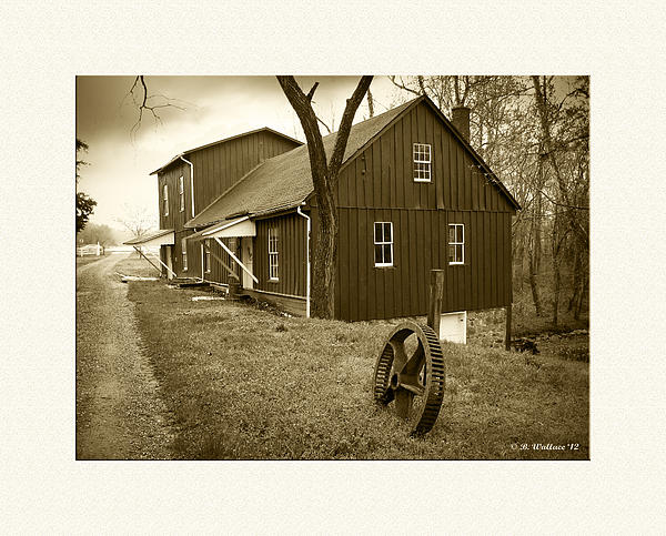 Williston Mill - Sepia Print by Brian Wallace