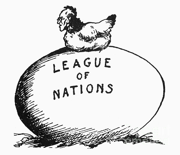 Wilson: League Of Nations Print by Granger