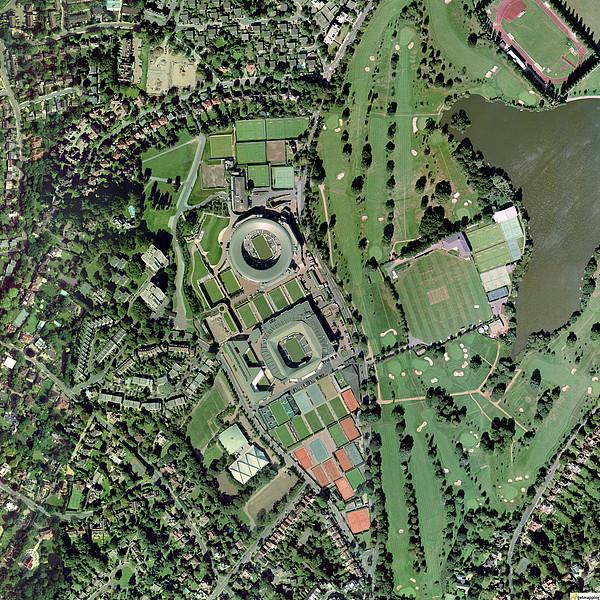 Wimbledon Tennis Complex, Uk Print by Getmapping Plc