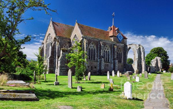 Winchelsea Church Print by Nigel Fletcher-Jones