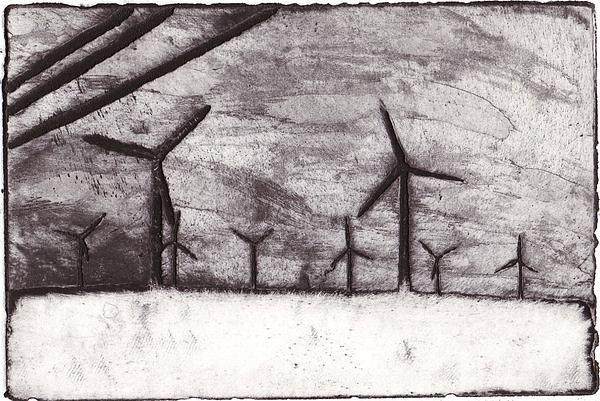 Wind Farming Print by Taylor Lee Bisbee