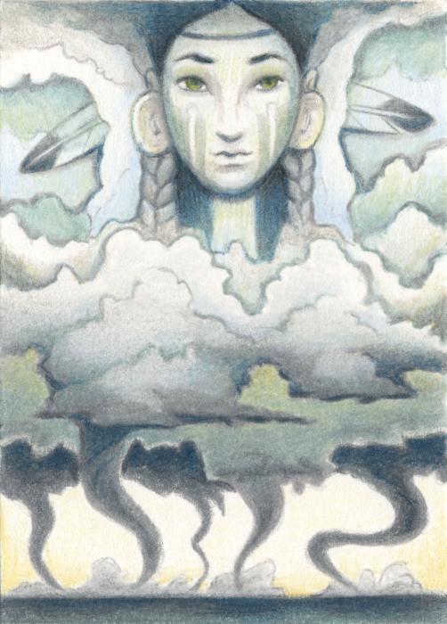 Wind Spirit Dances Print by Amy S Turner
