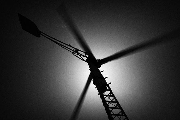 Wind Turbine Blades Spinning Print by Joe Fox