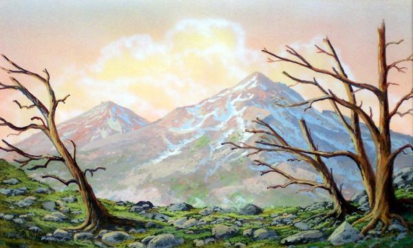 Windblown Print by Frank Wilson