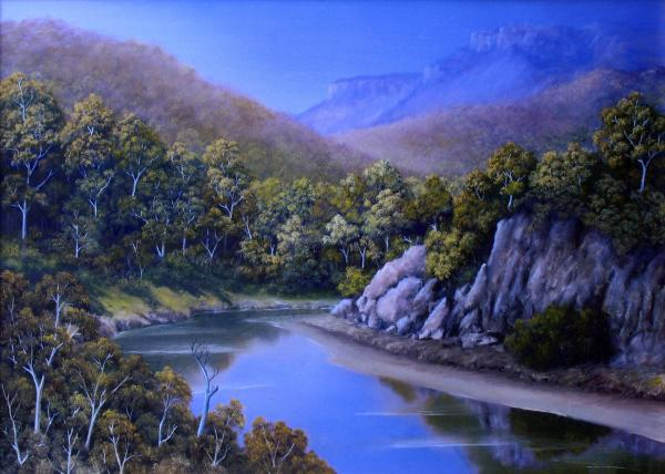 Winding River Drawing Winding River Painting