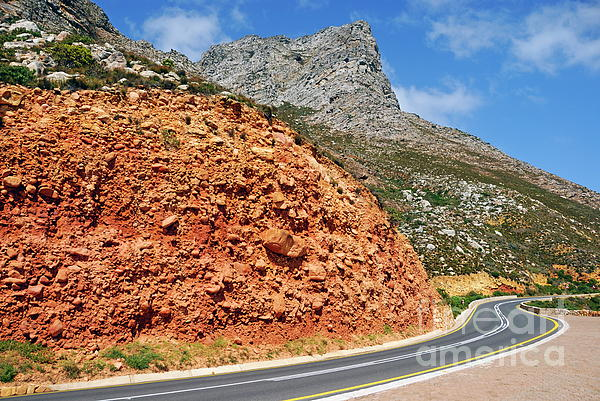 Winding Road Between Gordon's Bay And Betty's Bay Print by Sami Sarkis