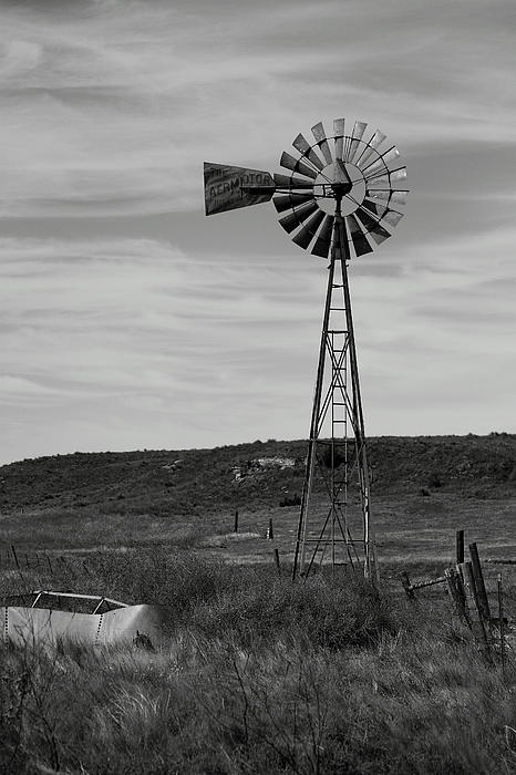 Windmill On The Plains Print by Jason Drake