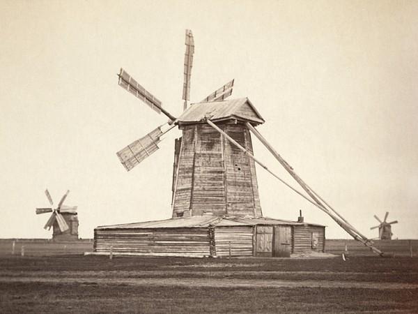 Windmills Near Omsk, Siberia Print by Everett