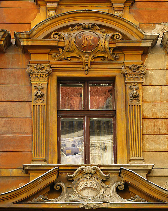 Greg Matchick - Window and Pediment in Ljubljana Slovenia