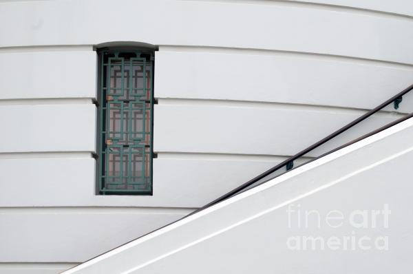 Window And Rail Print by Dan Holm