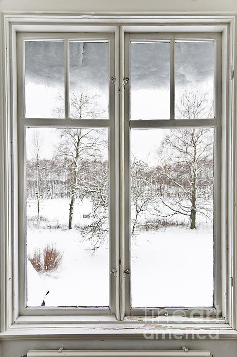 Window And View Over Winter Landscape by Kathleen Smith