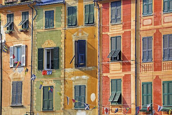 Windows Of Portofino Print by Joana Kruse