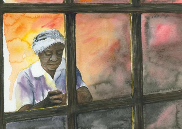 Windows On America Print by Kim Whitton